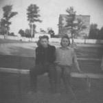 На стадионе, 1948 г.