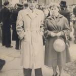 1958, 1-е мая, на демонстрации.