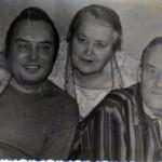 Валентин с тетушкой и отцом (ок.1985 г.)